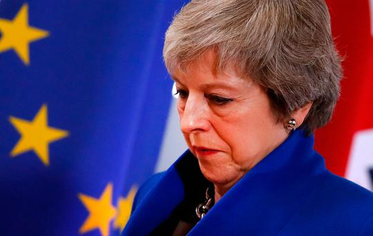 Theresa May faces a tough task to get her draft Brexit deal endorsed by a majority of British MPs. Photo: Alastair Grant/AP