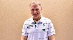 Unfinished business: Joe Schmidt will be determined to make a success of the 2019 World Cup after the disappointment of falling at the quarter-final stage in 2015. Photo: Loic Venance/AFP/Getty