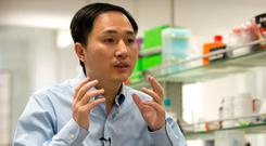 Chinese researcher He Jiankui. AP Photo/Mark Schiefelbein