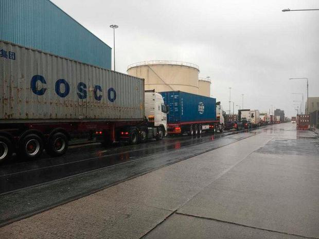 Dublin Port forced to close to shipping as a result of strong winds (Photo: Donal Corkery)