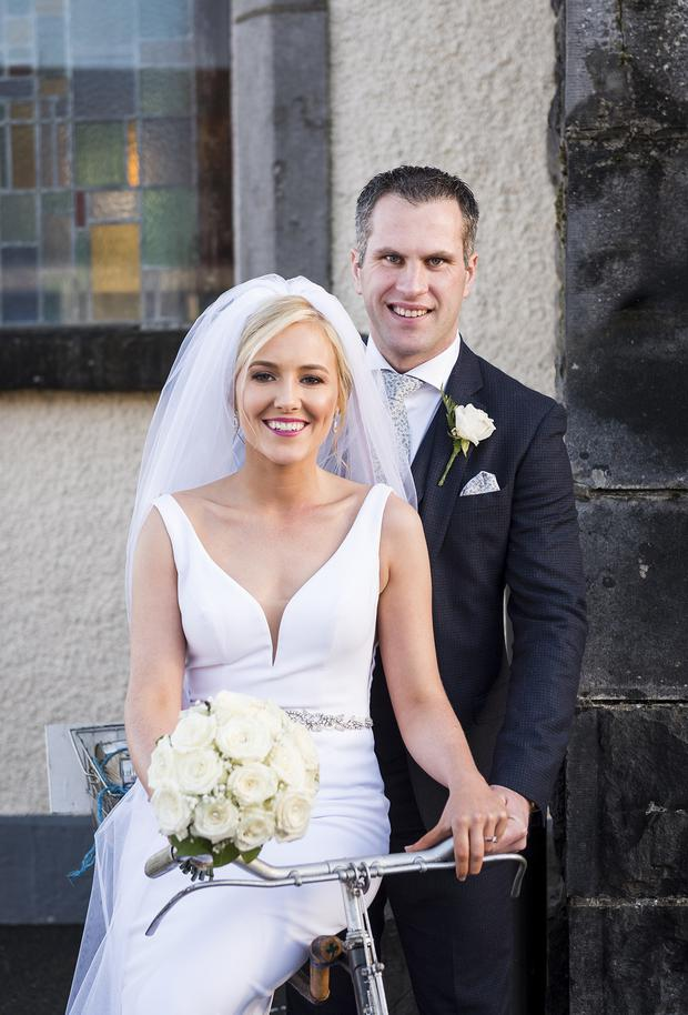 Niamh and Damian on their wedding day