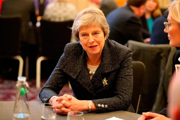 Prime Minister Theresa at Queen's University in Belfast, during her visit to Northern Ireland. PRESS ASSOCIATION Photo. Picture date: Tuesday November 27, 2018. See PA story POLITICS Brexit. Photo credit should read: Liam McBurney/PA Wire