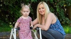 Zoe Murphy pictured with her mum Lynda. Picture: Ciara Wilkinson