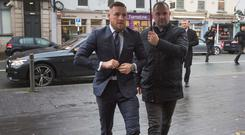 Conor McGregor pictured arriving at Naas District Court today. PIC COLIN O'RIORDAN