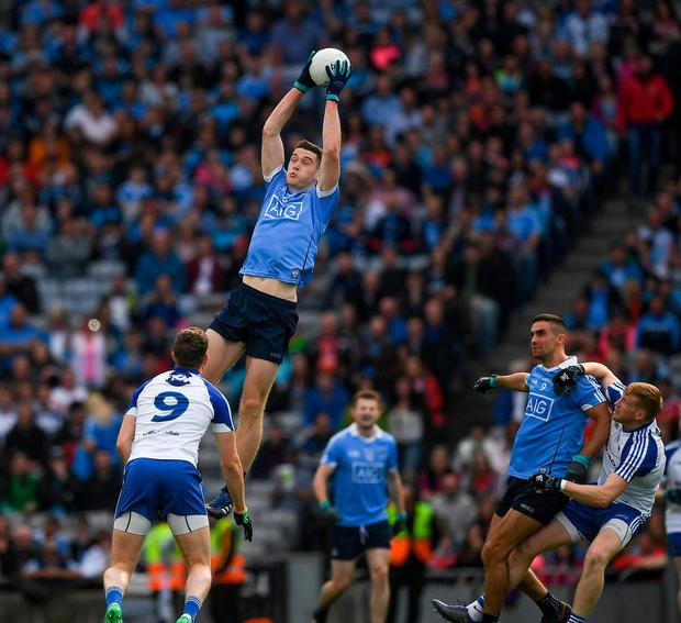 Dublin's Brian Fenton catching a high ball during last year's quarter-final against Monaghan. Photo: Ray McManus/Sportsfile