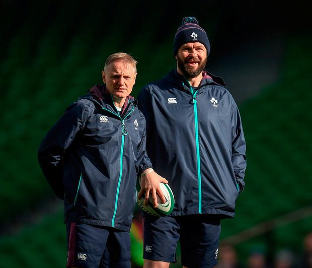 Stepping out of the shadows: Players respect Andy Farrell and fear Joe Schmidt. Photo: Seb Daly/Sportsfile