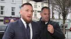 UFC star Conor McGregor arriving at Naas District Court Picture: Colin O'Riordan