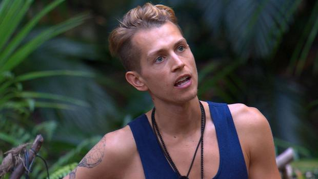 The singer is currently appearing on I'm A Celebrity (REX)
