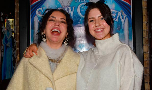 Morah Ryan and Babette Ryan at the opening of The Snow Queen Christmas Panto 2018 at The Gaiety Theatre