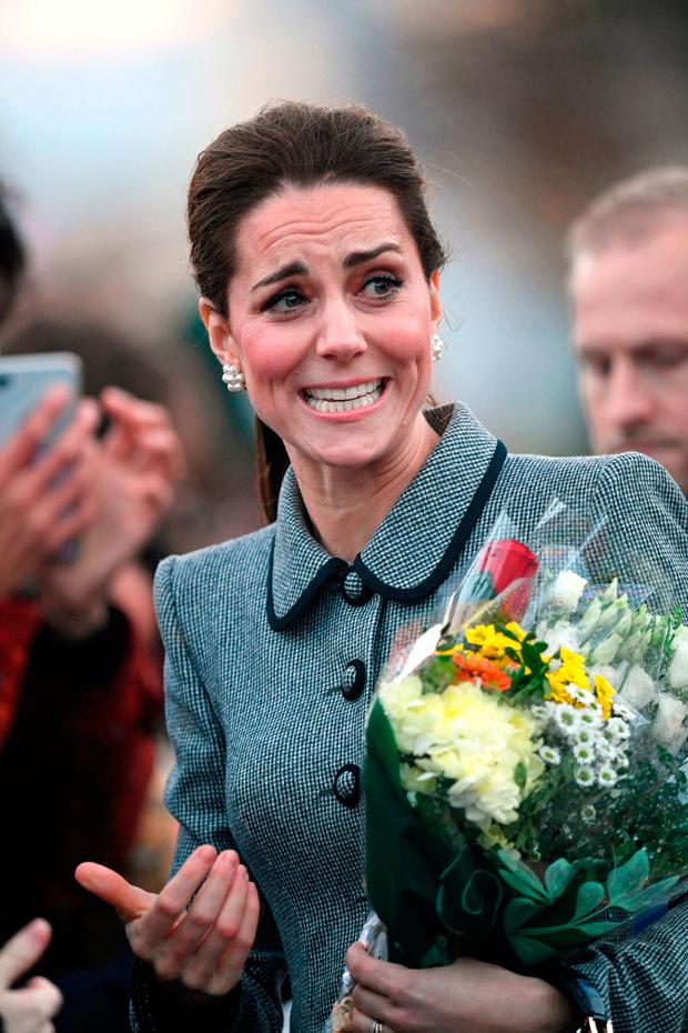 The Duke and Duchess of Cambridge arrive for a visit to the University of Leicester