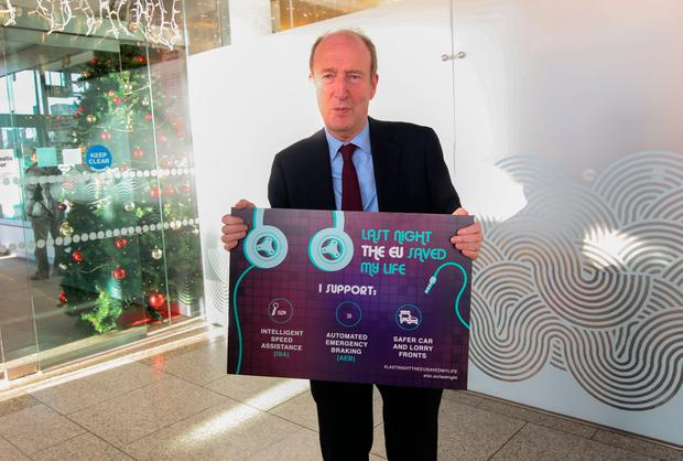 Minister for Transport Tourism & Sport Shane Ross TD during the Christmas and New Year road safety campaign 2018 by the Road Safety Authority at CHQ, Dublin. Photo: Gareth Chaney, Collins