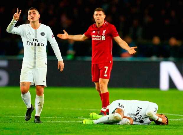 A night of Neymar falling to the ground after clashing with James Milner and Georginio Wijnaldum
