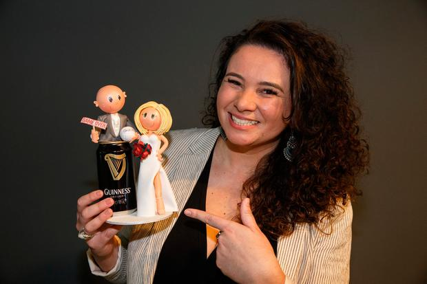 Success: Ana Rodrigues of Bespoke Cake Toppers at the showcase. Photo: Mark Condren