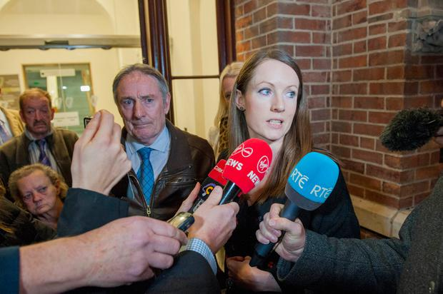 Cathy Collins, sister of tragic murder victim Nicola, tells of her relief that killer Cathal O'Sullivan has been jailed for life. Photo: Daragh McSweeney