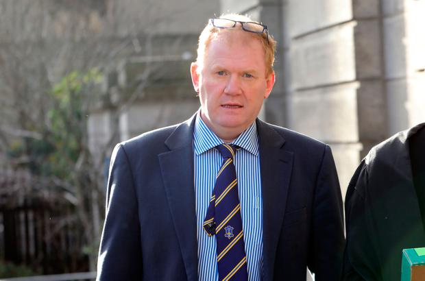 Paudie Coffey outside court yesterday. Photo: Collins