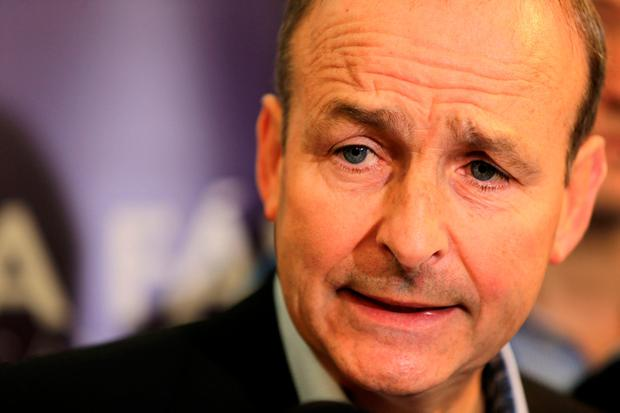 Issues: Micheál Martin said Fianna Fáil is ready to fight an election. Picture: Gerry Mooney
