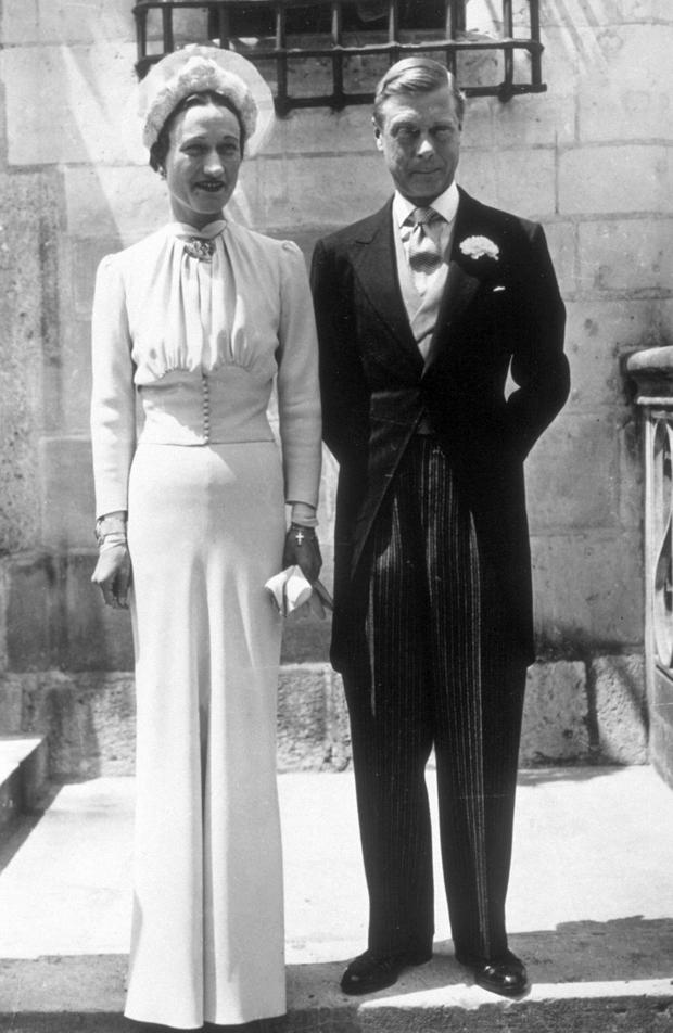 3rd June 1937: A portrait of the Duke and Duchess of Windsor on their wedding day at the Chateau de Conde in France. (Photo by Keystone/Getty Images)