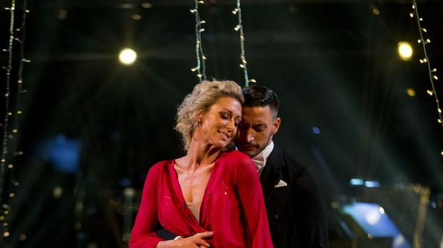 Faye Tozer and Giovanni Pernice. (Guy Levy/BBC)