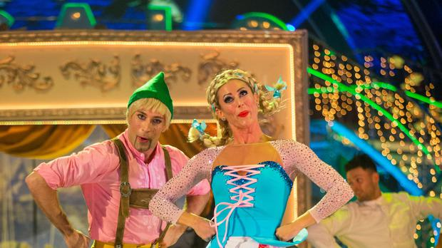 Faye Tozer scored a perfect 40 on tonight's Strictly Come Dancing (BBC/PA)