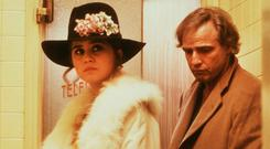 Maria Schneider and Marlon Brando in a scene from Last Tango in Paris