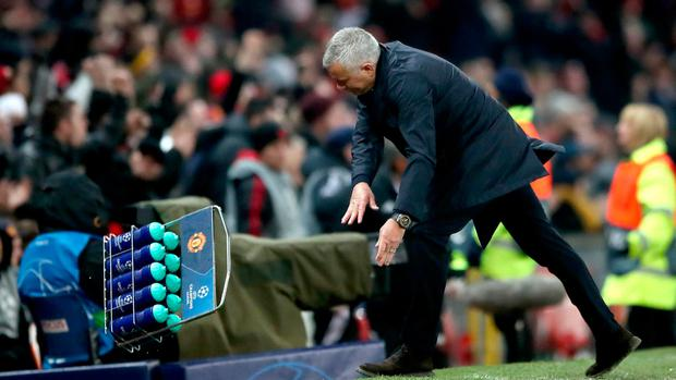Jose Mourinho takes it out on the Gatorade