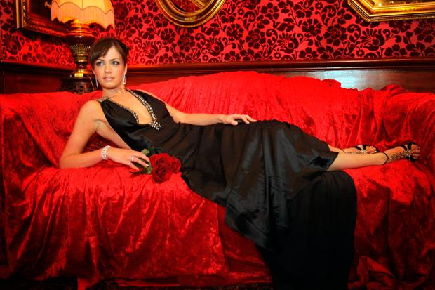Model Ali McDonnell at a photocall for a Lillie's Valentine's night event in 2008. Picture: Arthur Carron/Collins