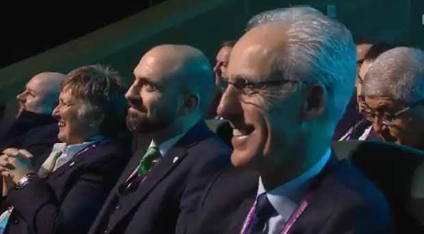 Watch: Mick McCarthy had a brilliant reaction after Ireland were initially drawn in Euro qualifying Group of Death