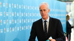 2 December 2018; Republic of Ireland manager Mick McCarthy arrives prior to the UEFA EURO2020 Qualifying Draw at the Convention Centre in Dublin. Photo by Sam Barnes/Sportsfile