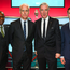 2 December 2018; From left, Republic of Ireland assistant coach Terry Connor, Republic of Ireland manager Mick McCarthy, John Delaney, CEO, Football Association of Ireland and Republic of Ireland assistant coach Robbie Keane following the UEFA EURO2020 Qualifying Draw at the Convention Centre in Dublin. (Photo by Stephen McCarthy / UEFA via Sportsfile)