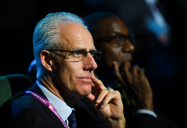 2 December 2018; Republic of Ireland manager Mick McCarthy during the UEFA EURO2020 Qualifying Draw at the Convention Centre in Dublin. (Photo by Stephen McCarthy / UEFA via Sportsfile)
