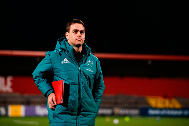 """Van Graan: """"The fact that all those internationals came back, the academy guys came in and the regulars could glue back in with literally one training session, it shows that system-wise we are aligned."""" Photo by Diarmuid Greene/Sportsfile"""
