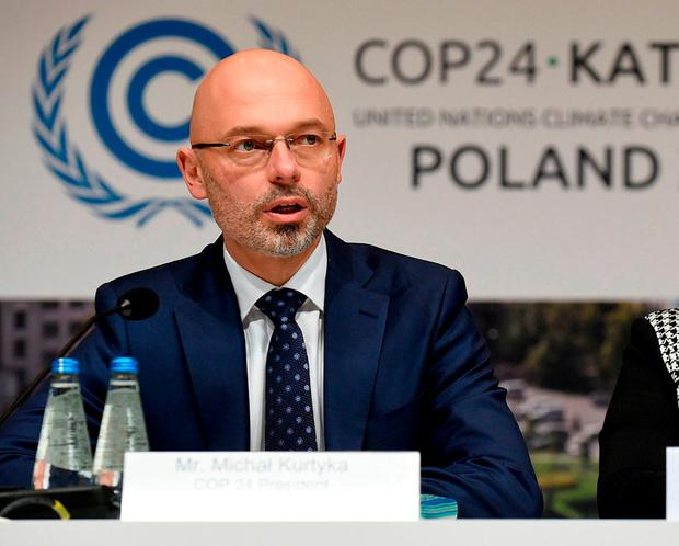 No Plan B: Polish environmental envoy Michal Kurtyka. Photo: AFP/Getty Images