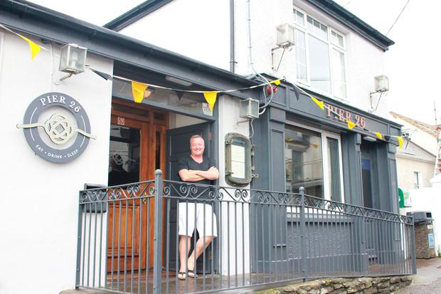 Pearse Flynn outside his Pier 26 restaurant in Ballycotton, Co Cork.