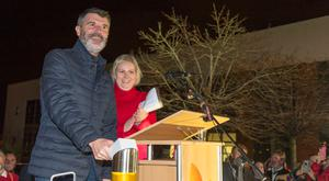 Roy Keane at Marymount Hospice, Cork, to switch on its Christmas lights at an event attended by 500 people. Picture: Provision