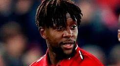Goal-hero Divock Origi has now scored three times in Merseyside derbies at Anfield. Photo: Clive Brunskill/Getty Images