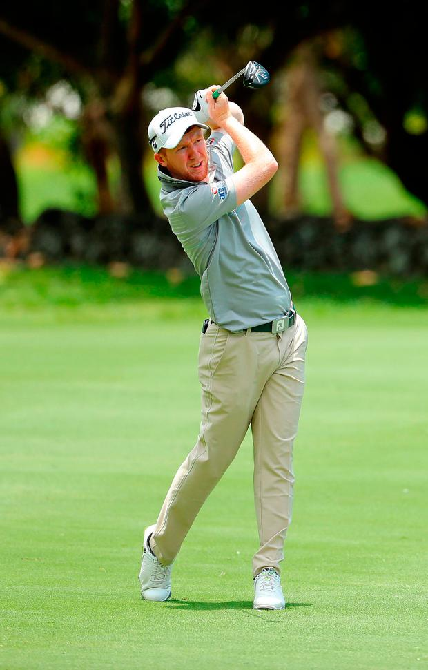 Gavin Moynihan in action at the Mauritius Open. Photo by Warren Little/Getty Images