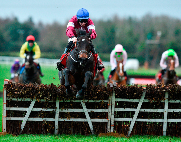 Apple's Jade, with Jack Kennedy up, on their way to winning the Hatton's Grace Hurdle at Fairyhouse yesterday. Photo by Matt Browne/Sportsfile
