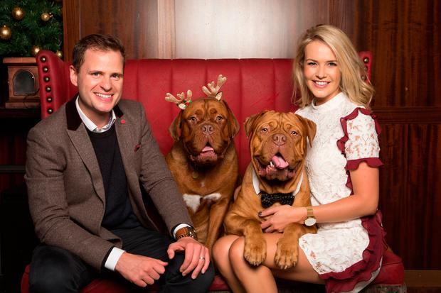 Aoibhin Garrihy with her husband John Burke and pet dogs