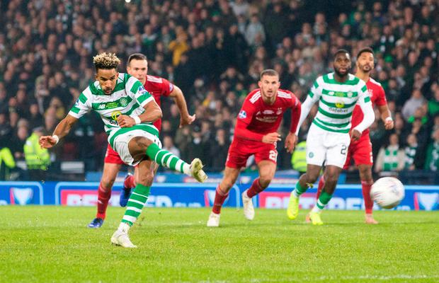 Scott Sinclair misses a penalty. Photo: Jeff Holmes/PA Wire