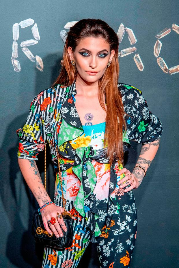 Paris Jackson attends the the Versace fall 2019 fashion show at the American Stock Exchange Building in lower Manhattan on December 02, 2018 in New York City. (Photo by Roy Rochlin/Getty Images)