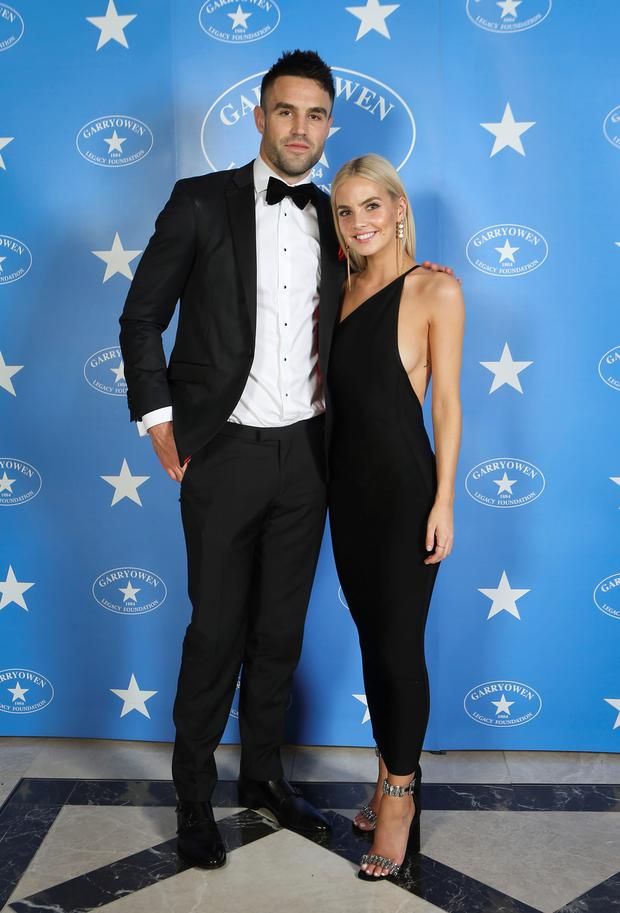 Conor Murray and girlfriend Joanna Cooper. Picture: Cormac Byrne