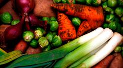 A vegan diet contains only plants, such as vegetables, grains and foods made from plants. Photo: PA