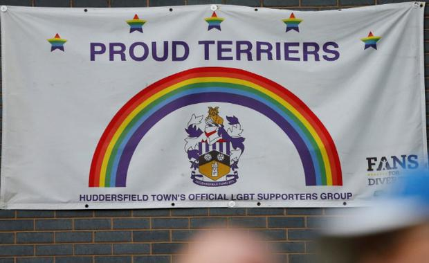 Huddersfield Town LGBT supporters group, Proud Terriers, claim abuse was directed at Brighton fans during Saturday's match CREDIT: ACTION IMAGES VIA REUTERS