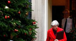 Britain's Prime Minister Theresa May leaves 10 Downing Street in London, Britain, December 3, 2018. REUTERS/Henry Nicholls