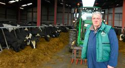 Farming Independent/Zurich Insurance Dairy Farmer of the Year Patrick Brennan on his Lurgancross Farm, outside Ballingarry in North Tipperary