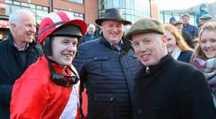 Family affair: Luke and Philip Dempsey after Dinnie's Vinnie victory in the Porterstown Handicap Chase at Fairyhouse. Photo: Caroline Norris