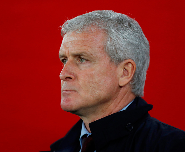 Mark Hughes' final game in charge of Southampton proved to be a 2-2 draw against his former club Manchester United. Photo: Reuters