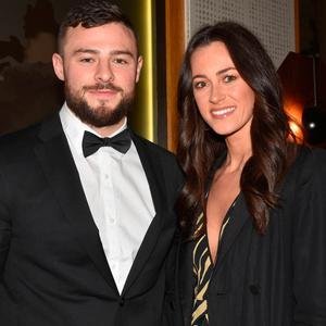 Robbie Henshaw and Sophie Marren at the IYF (Irish Youth Foundation) Excellence in Sports Awards 2018 at The Clayton Hotel, Dublin