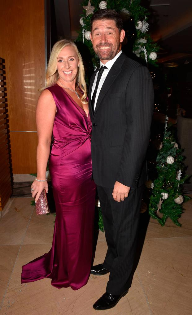 Padraig Harrington and Caroline Harrington at the IYF (Irish Youth Foundation) Excellence in Sports Awards 2018 at The Clayton Hotel, Dublin