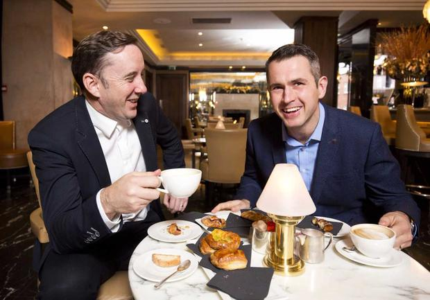 Shane Coleman with his new co-presenter for Newstalk Breakfast, Kieran Cuddihy